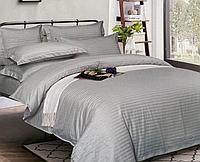 """Семейное постельное белье """"Элит"""" с простыней на резинке (14466) цветной страйп-сатин люкс KRISPOL, фото 1"""