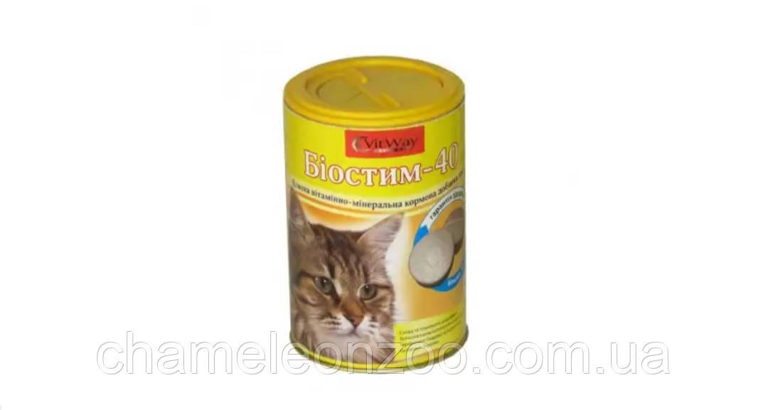 Витамины Биостим для котов 300 табл.