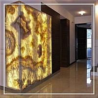 Облицювання натуральним каменем, онікс з підсвічуванням: ціна, фото., фото 1