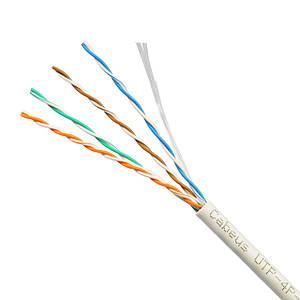 Кабель витая пара UTP 5е одножильный для внутреннего монтажа прокладки интернета