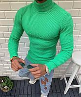 Гольф мужской молодежный весна-осень ярко-зеленый - размер S