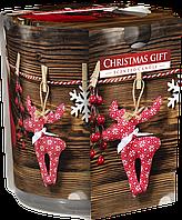 """Ароматическая свеча в стекле BISPOL sn72s-07 """"Новогодний подарок"""""""
