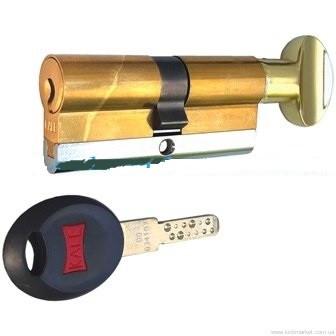 Цилиндры Kale 164 CEC 26+10+32=68 mm латунь 5 ключей с вертушком на длиной стороне