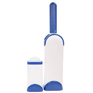 Щетка Dongguan true touch для уборки шерсти с поверхностей Бело-голубая (2887-7849)