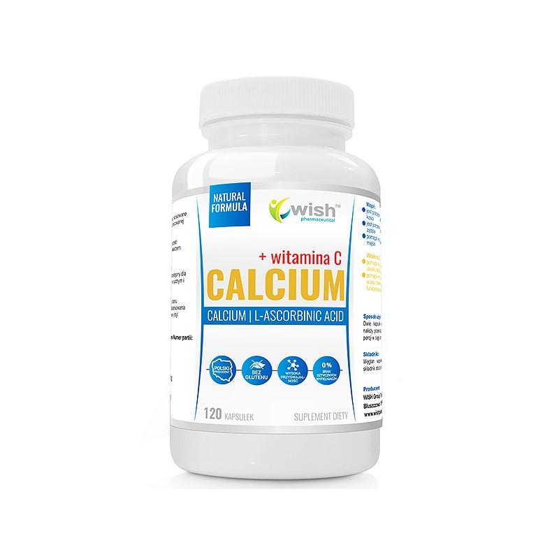 Кальций 800 мг, витамин С 200 мг 120 caps, Wish