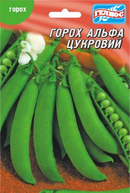 Семена раннего урожайного овощного сахарного гороха Альфа 30 г