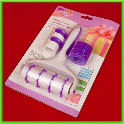 Валик кондитерский для нарезки мастики с насадками L19см D3,5см ширина 11см, фото 2