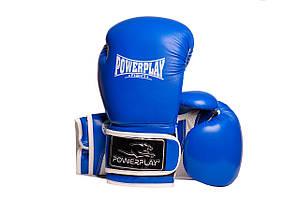 Боксерські рукавиці PowerPlay 3019 Сині 14 унцій (PP_3019_14oz_Blue)