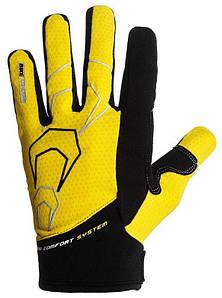 Велоперчатки PowerPlay XXL Желтые (6556_XXL_Yellow)