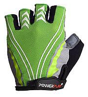 Велоперчатки PowerPlay M Зеленые (5007A_M_Green)