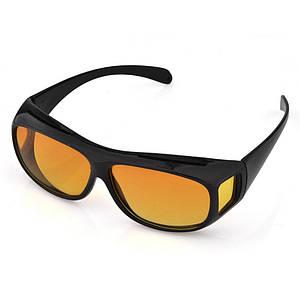 Водительские очки антифары HD Vision Visor Day Night от солнца 2 шт Черный (R0501)