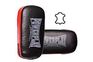 Пади для тайського боксу PowerPlay 3064 Чорно-Червоні
