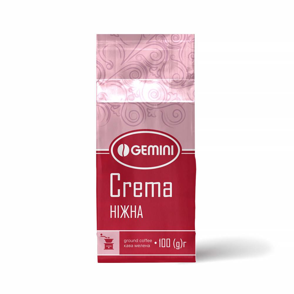 Кофе молотый Gemini Crema нежная100 г (4820156431291)
