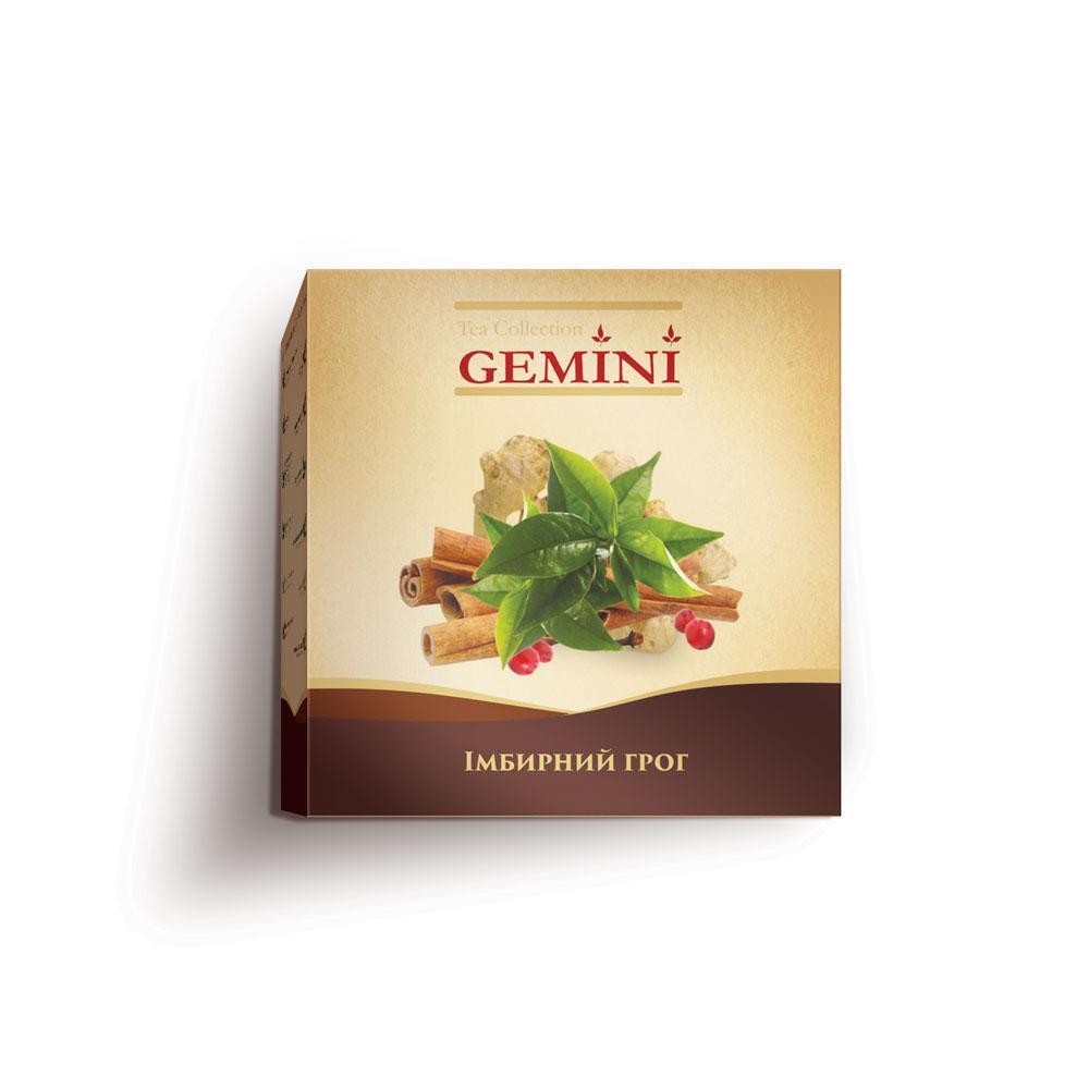 Чай чорний пакетований Gemini Tea Collection Grand Pack Імбирний Грог 4 м х 20 пакетиків (4820156430867)