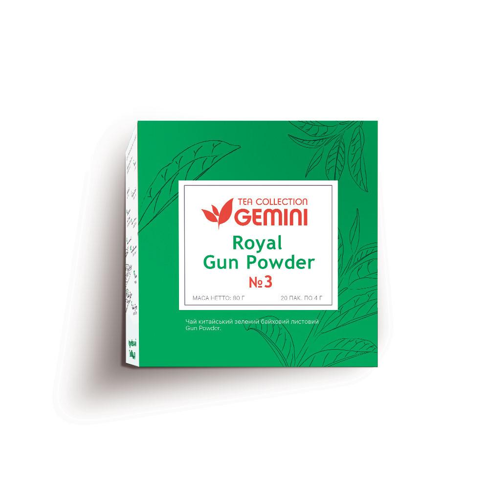 Чай зелений пакетований Gemini Tea Collection Grand Pack Королівський Gun Powder 4 м х 20 пакетиків