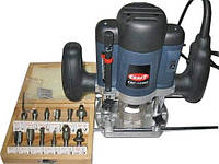 Фрезер Craft CBF 1500E,  цанги 6 и 8 мм , ход фрезы 50 мм, набор из 12 фрез
