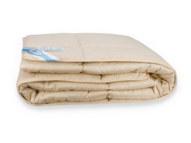 Одеяло Leleka-Textile Шерсть Двуспальный весна-осень172х205 см Бежевый (1005560)