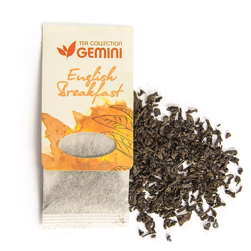 Чай чорний пакетований Gemini Tea Collection English Breakfast 15 пакетиків (4820156430188)