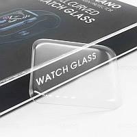 Захисне скло Glass Shield 3D для Apple Watch Series 3 42 mm з УФ клеєм Прозорий (00006800)