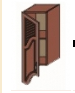 Кухня Юля 300 В фігур решітки ЛВ береза тундра золото (НОВА)