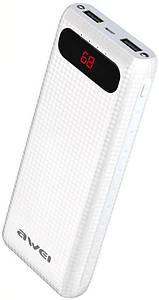 Портативная батарея AWEI P70K Power Bank 20000mAh Li-Polimer White (64598)
