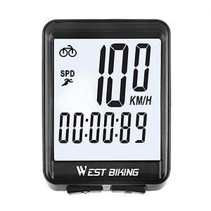 Велокомпьютер West Biking 0702054 с подсветкой проводной Черный (5010-15144)