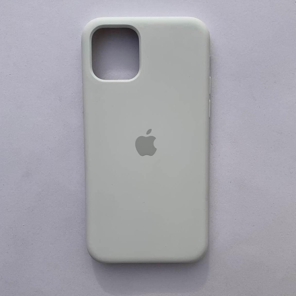 Чехол-накладка Silicone Case для Apple iPhone 11 Pro Max White