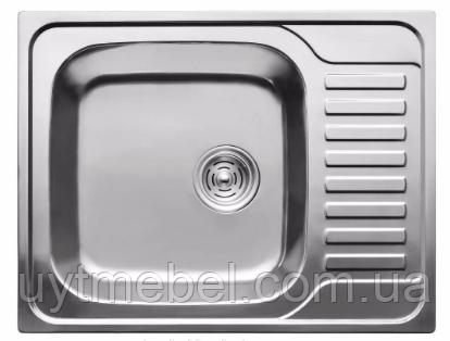 Мийка 5848 0,8 врізна сатин (Platinum)
