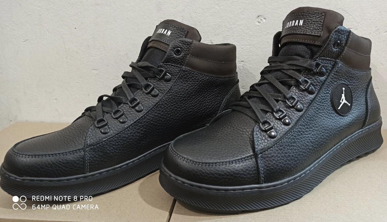 Шкіряні чоловічі кросівки для зими, великого розміру, Jordan батальна серія! 46,47,48,49, 50 з хутром