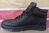 Шкіряні чоловічі кросівки для зими, великого розміру, Jordan батальна серія! 46,47,48,49, 50 з хутром, фото 5