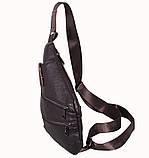 Сумка кожаная мужская барсетка через плечо коричневый мессенджер 29х21см s8 Brown Польша от 5шт, фото 3
