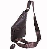 Сумка кожаная мужская барсетка через плечо коричневый мессенджер 29х21см s8 Brown Польша от 5шт, фото 4