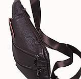 Сумка кожаная мужская барсетка через плечо коричневый мессенджер 29х21см s8 Brown Польша от 5шт, фото 5