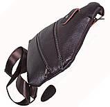 Сумка кожаная мужская барсетка через плечо коричневый мессенджер 29х21см s8 Brown Польша от 5шт, фото 6
