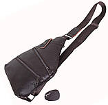 Сумка кожаная мужская барсетка через плечо коричневый мессенджер 29х21см s8 Brown Польша от 5шт, фото 8