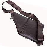 Сумка кожаная мужская барсетка через плечо коричневый мессенджер 29х21см s8 Brown Польша от 5шт, фото 10