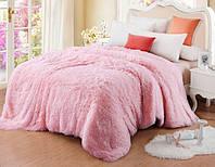Меховой плед покрывало Травка Евро 220x240 см Розовый (1005687)