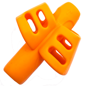 Силиконовая насадка на ручку, карандаш для коррекции письма 2Life Оранжевый (n-483)