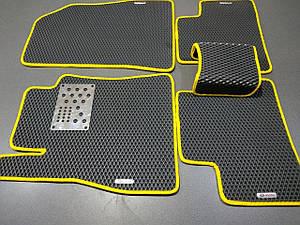 Автоковрики iKovrik ViP 5 шт в комплекте до восьми креплений/подпятник метал/4 шильдика (n-488)