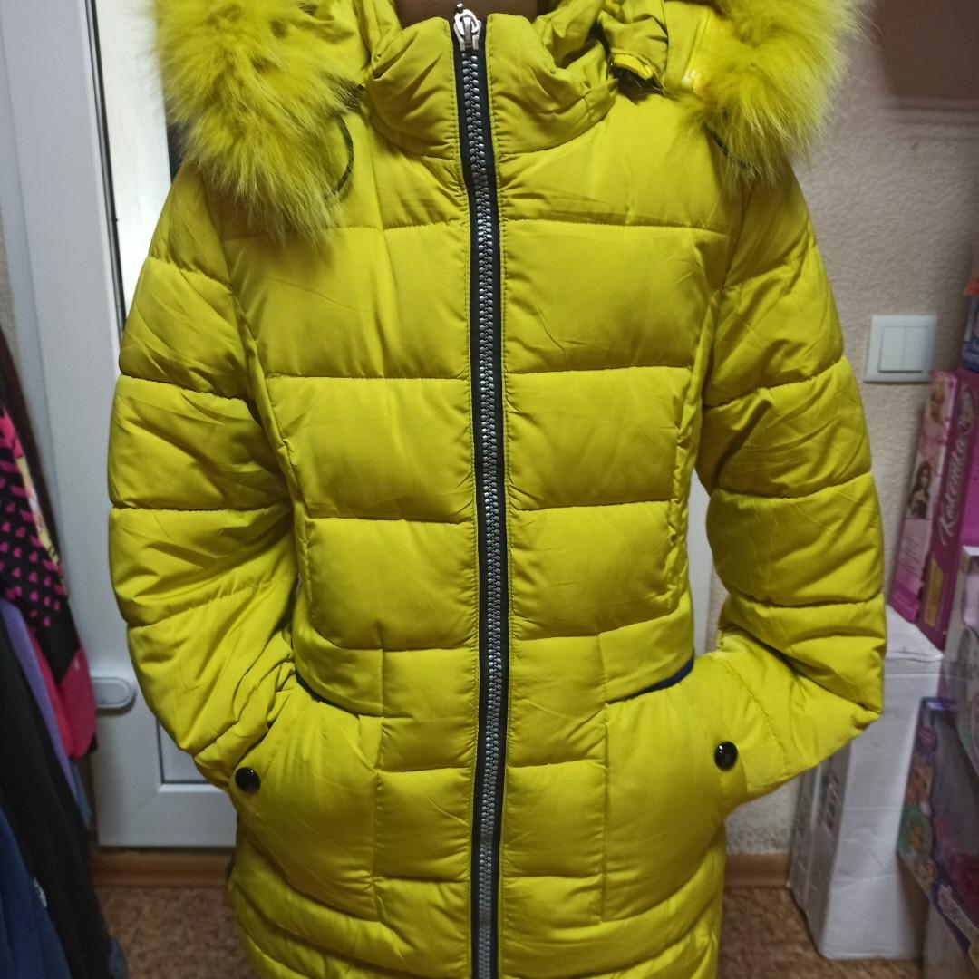 Теплое модное красивое зимние пальто для девочки. Подклада- флис. На капюшоне отстежной мех.