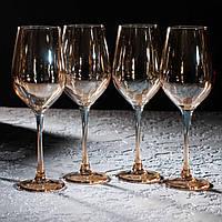 "Набор бокалов для вина ""Золотой мёд"" 350 мл, 4 шт Luminarc., фото 1"