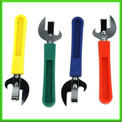Консервный нож с пластмассовой ручкой L 14 см, фото 2