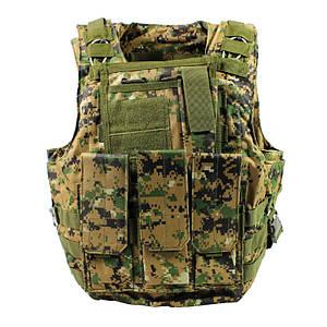 Жилет тактический AOKALI Outdoor А56 Camouflage Green (5360-16994a)