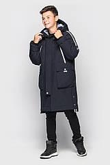 Зимняя подростковая куртка-парка Илон на мальчика Размеры 128- 140