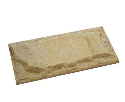 """Плитка фасадная """"Рваный камень"""" 12*26 см желтая/коричневая, фото 2"""