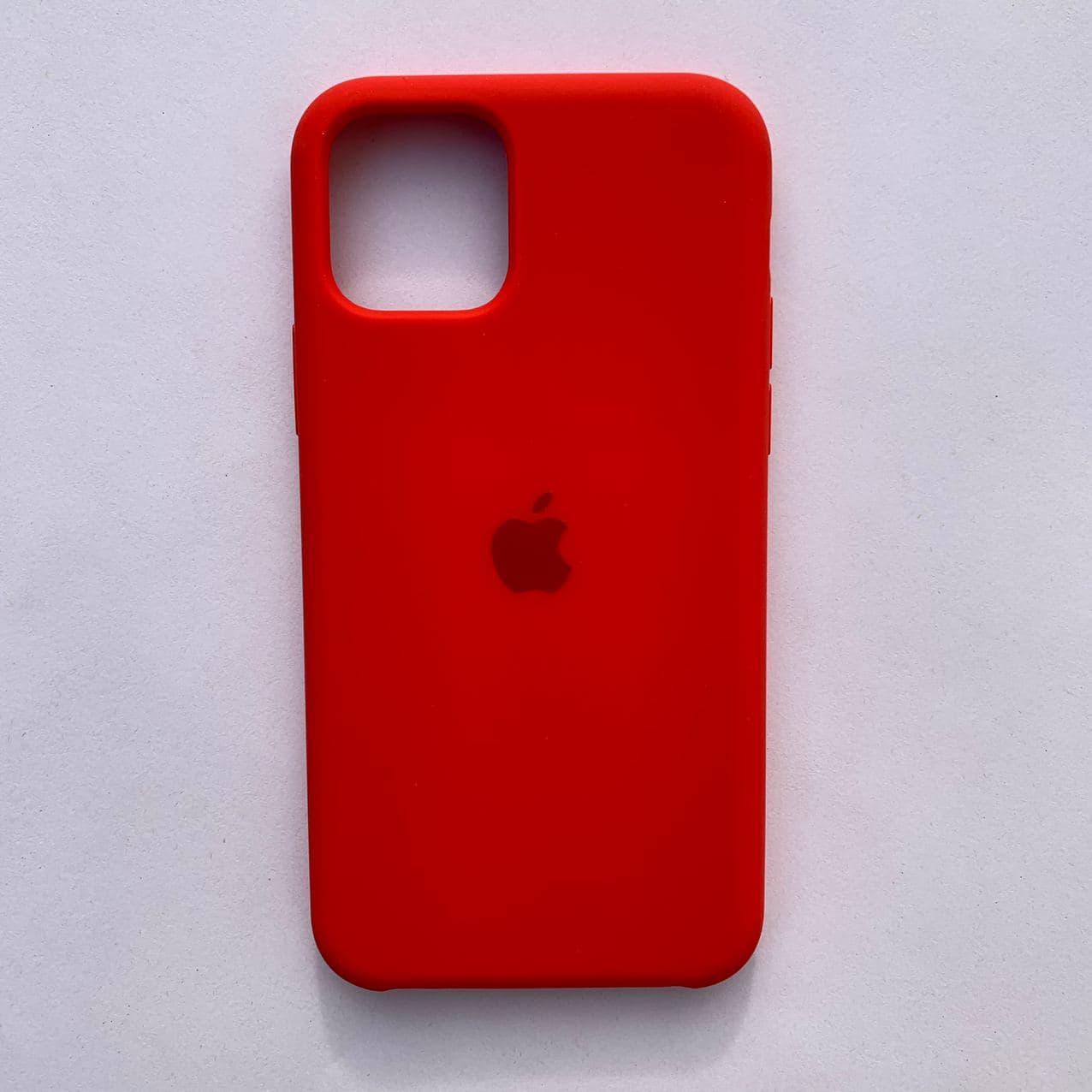 Чехол-накладка Silicone Case для Apple iPhone 11 Pro Red