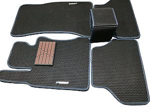 Автоковрики iKovrik Премиум 5 шт в комплекте до восьми креплений, подпятник резина-пластик, 2 шильдика (n-487)