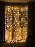Новорічна світлодіодна гірлянда Штора з пультом управління, фото 1