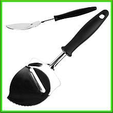 """Лопатка кухонні для нарізки сиру """"Крапля"""" L24,5см ручка 15см ширина 7см"""