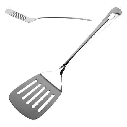 Лопатка кухонная из нержавеющей стали L36см ручка 26,5см ширина 8см, фото 2
